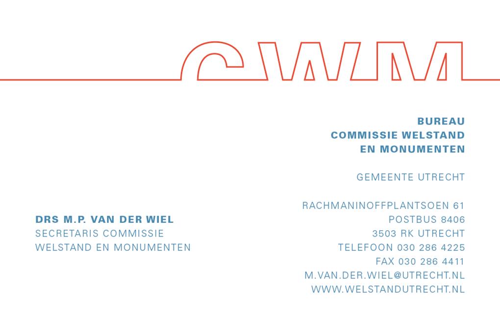 Commissie welstand en monumenten visitekaartje
