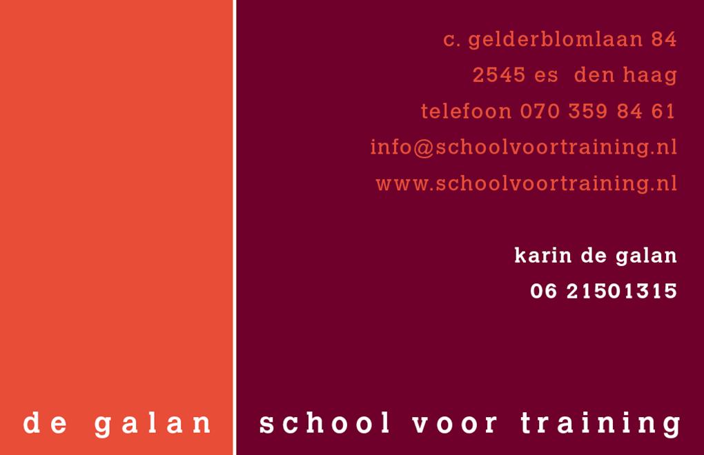 de-galan-school-voor-training-visitekaartje