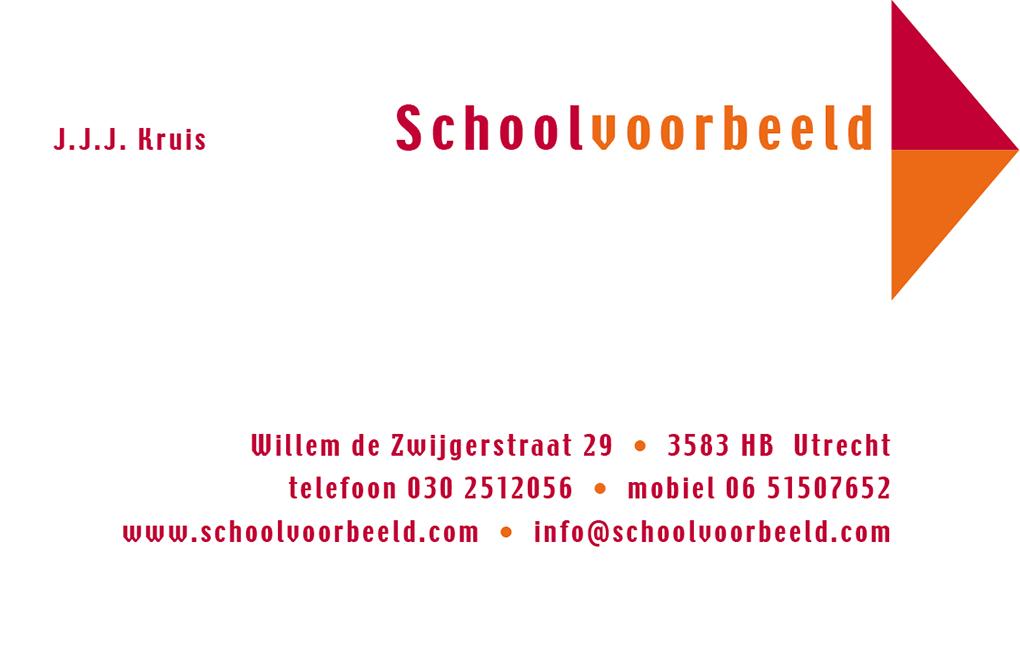 Schoolvoorbeeld visitekaartje