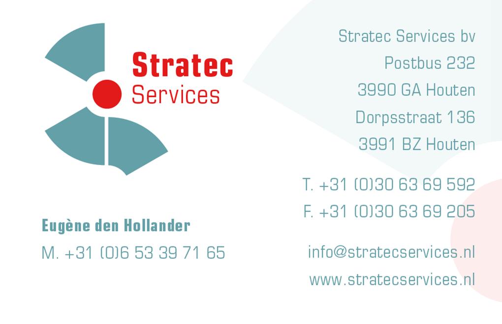 Stratec services visitekaartje