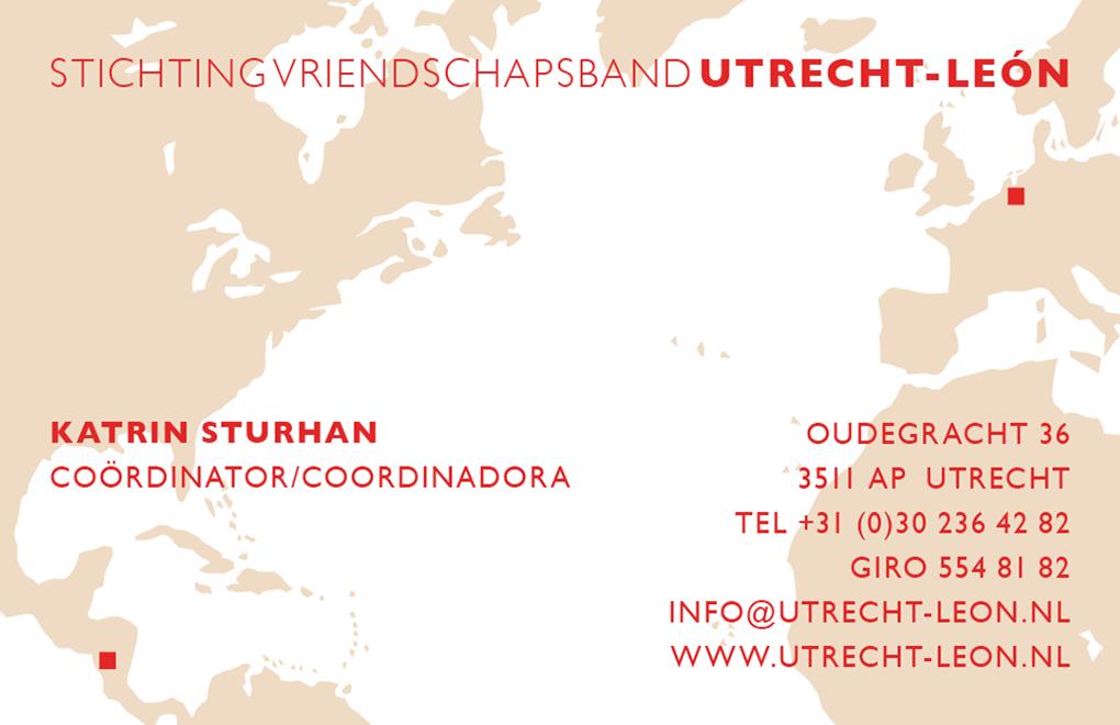Vriendschapsband Utrecht Leon visitekaartjes