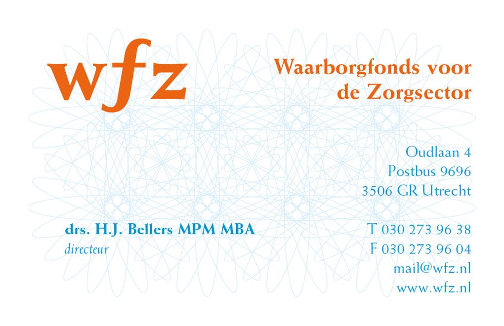 WFZ waarborgfonds voor de zorgsector visitekaartje