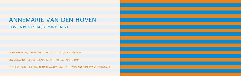 tekst, advies en projectmanagement Annemarie van den Hoven