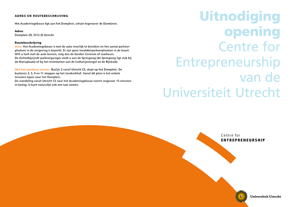 Universiteit Utrecht, Centre for Entrepreneurship